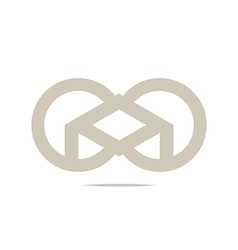 Circle square design logo abstract icon vector