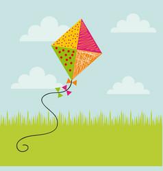 Colorful kite icon vector