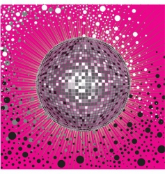 cover design with disco ball vector image vector image