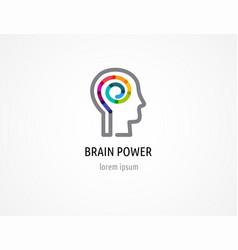 Creative colorful logo human head mind brain vector