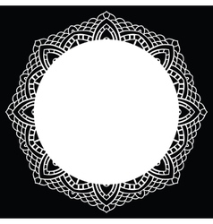 Crochet lace mandala vector