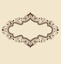 fine floral round frame decorative element for vector image