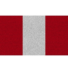 Flags Peru on denim texture vector image vector image