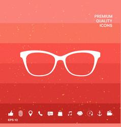 Glasses symbol icon vector