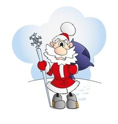 Hand drawn Santa vector image vector image