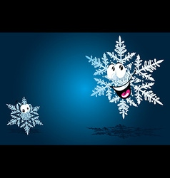 Happy snowflake vector