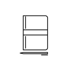 notebook with pen icon vector image