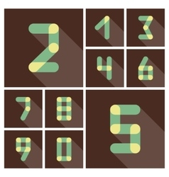 Numbers Icons set flat design vector image vector image