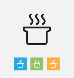 Of cooking symbol on soup vector