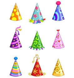 party hats vector image