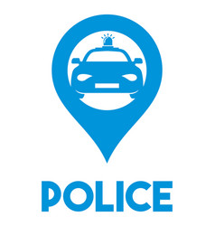 Police sign vector