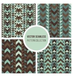 Seamless ethnic geometric pattern vector