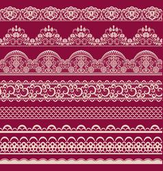 Seamless lace border vector