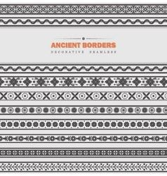 Set of seamless ancient borders vector image vector image