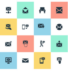 Set of simple mailing icons vector