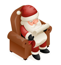 Sit armchair read gift list cute isometric 3d vector