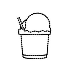 Tumbler ice cream vector