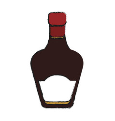 Whisky bottle icon vector