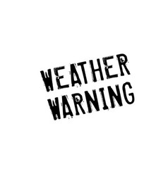 Weather warning rubber stamp vector