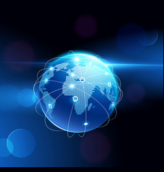 globe network connection vector image