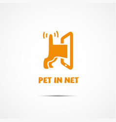 Pet in net vector