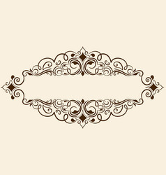Fine floral square frame decorative element for vector