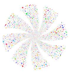 Narcotic drugs fireworks swirl flower vector