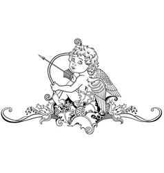 little angel cupid vector image