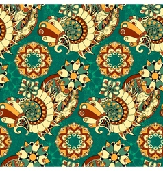 Floral mechanism seamless vector
