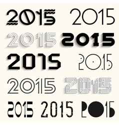 2015 for design vector image