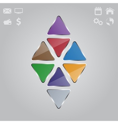 glass triangle background vector image