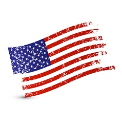 American flag - dirty grunge isolated on white vector
