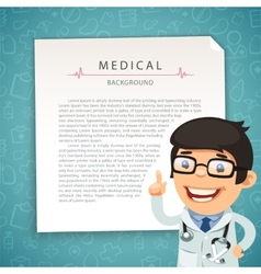 Aquamarine medical background with doctor vector