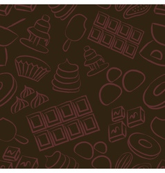Sweet chocolate doodle sketch icons seamless vector