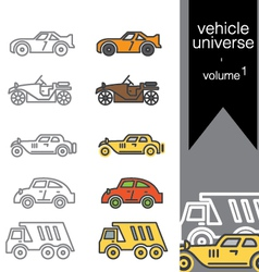 Vehicle universe 1 vector