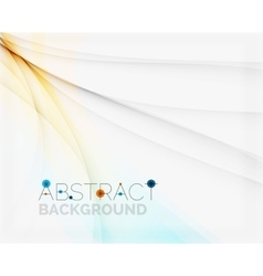 Corporate white background with gentle flowing vector