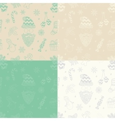 Christmas subtle doodles seamless vector