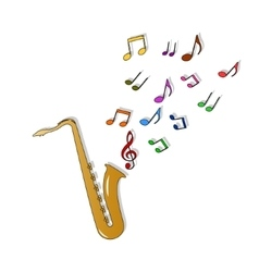 Saxophone color vector