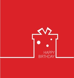 Happy birthday in red vector