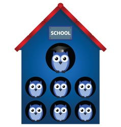 Owl school vector