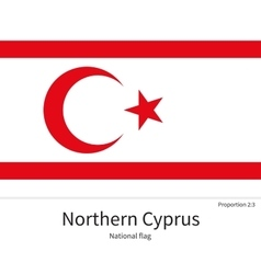 National flag of northern cyprus with correct vector