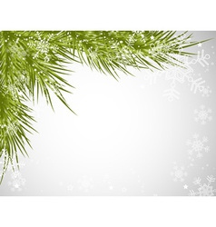 Christmas tree background snowflake vector