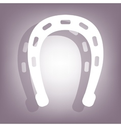 Horseshoe icon with shadow vector
