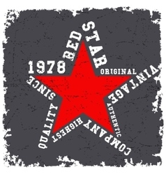 Red star vintage vector