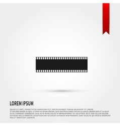 Film strip icon flat design style template vector