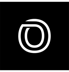 Capital letter o from the white interwoven strips vector