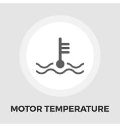 Motor temperature flat icon vector