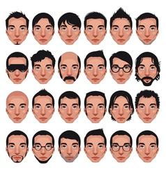 Avatar mens portraits vector image vector image