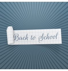 Back to school curved festive banner vector
