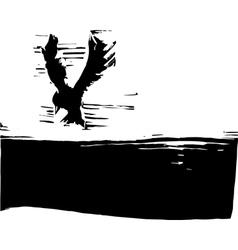 Bird in a Sky vector image
